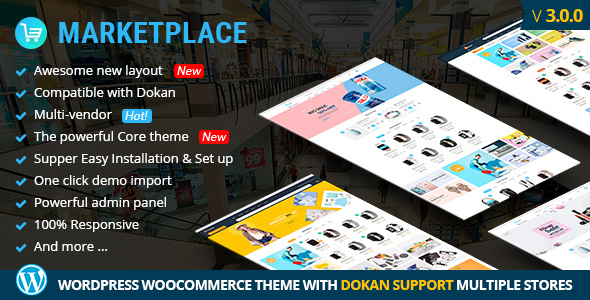 MultiStores - WordPress WooCommerce Theme Support Multiple Stores - Retail WordPress