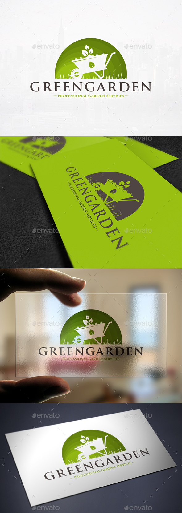 Green Garden Logo Template - Nature Logo Templates