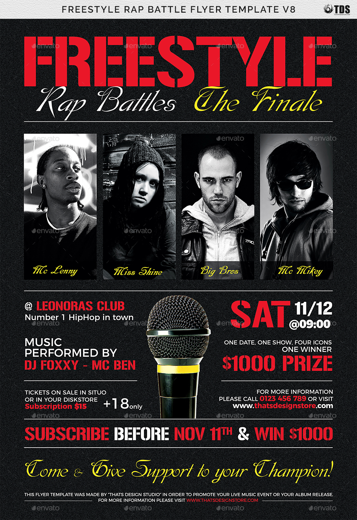 freestyle rap battle flyer template v8 by lou606 graphicriver