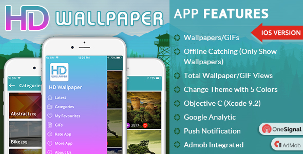 iOS HD Wallpaper - CodeCanyon Item for Sale