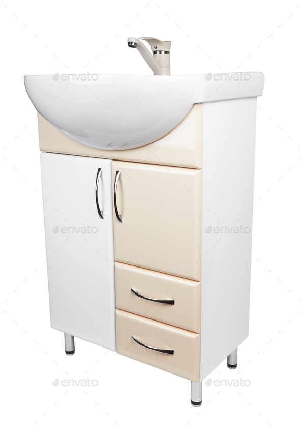 cabinet with a sink - Stock Photo - Images