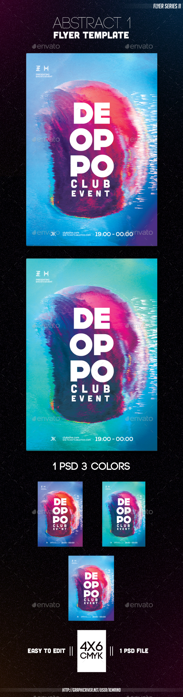 Abstract 1 Flyer Template - Clubs & Parties Events