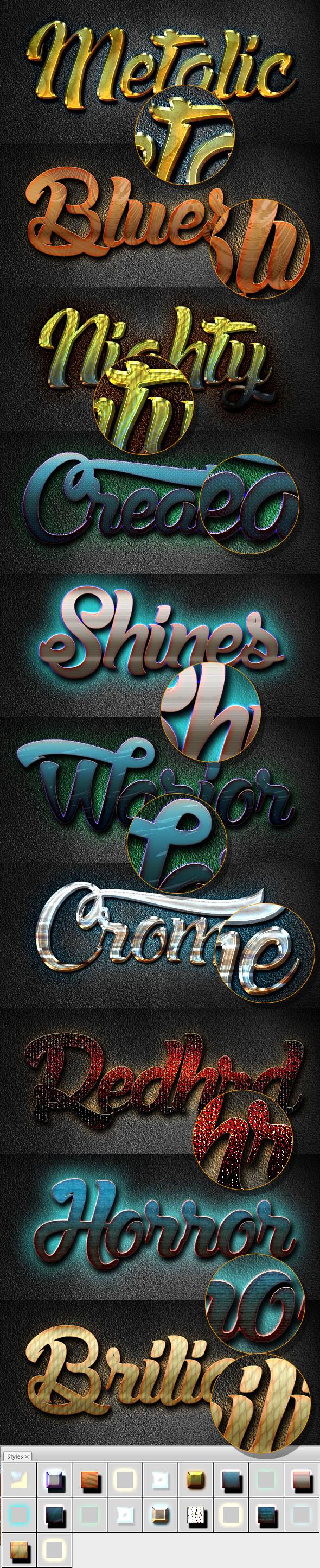 10 3D Text Styles D_59 - Styles Photoshop