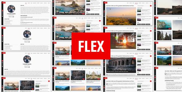 Flex - Personal Resume / Blog / Portfolio Template - Personal Site Templates