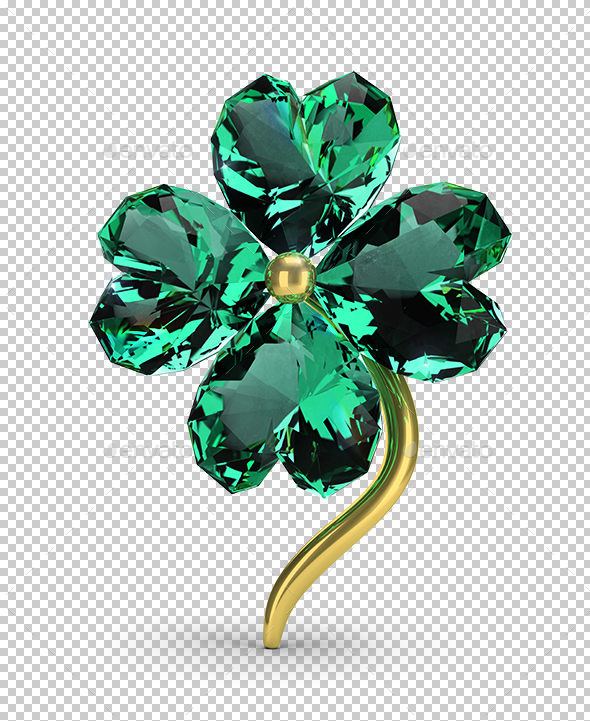 Emerald Clover - Objects 3D Renders