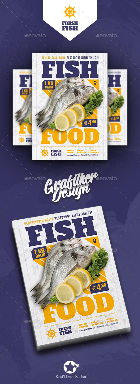 Sea Food Restaurant Flyer Templates - Restaurant Flyers