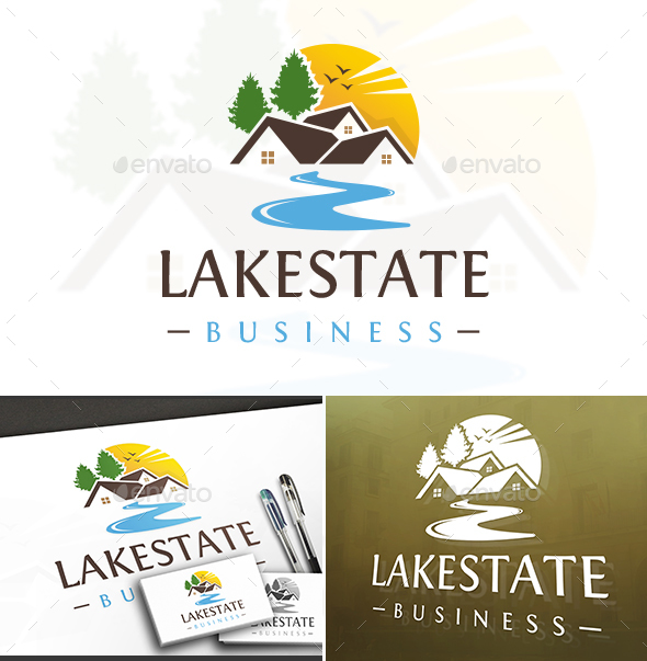 Lake House Logo - Buildings Logo Templates