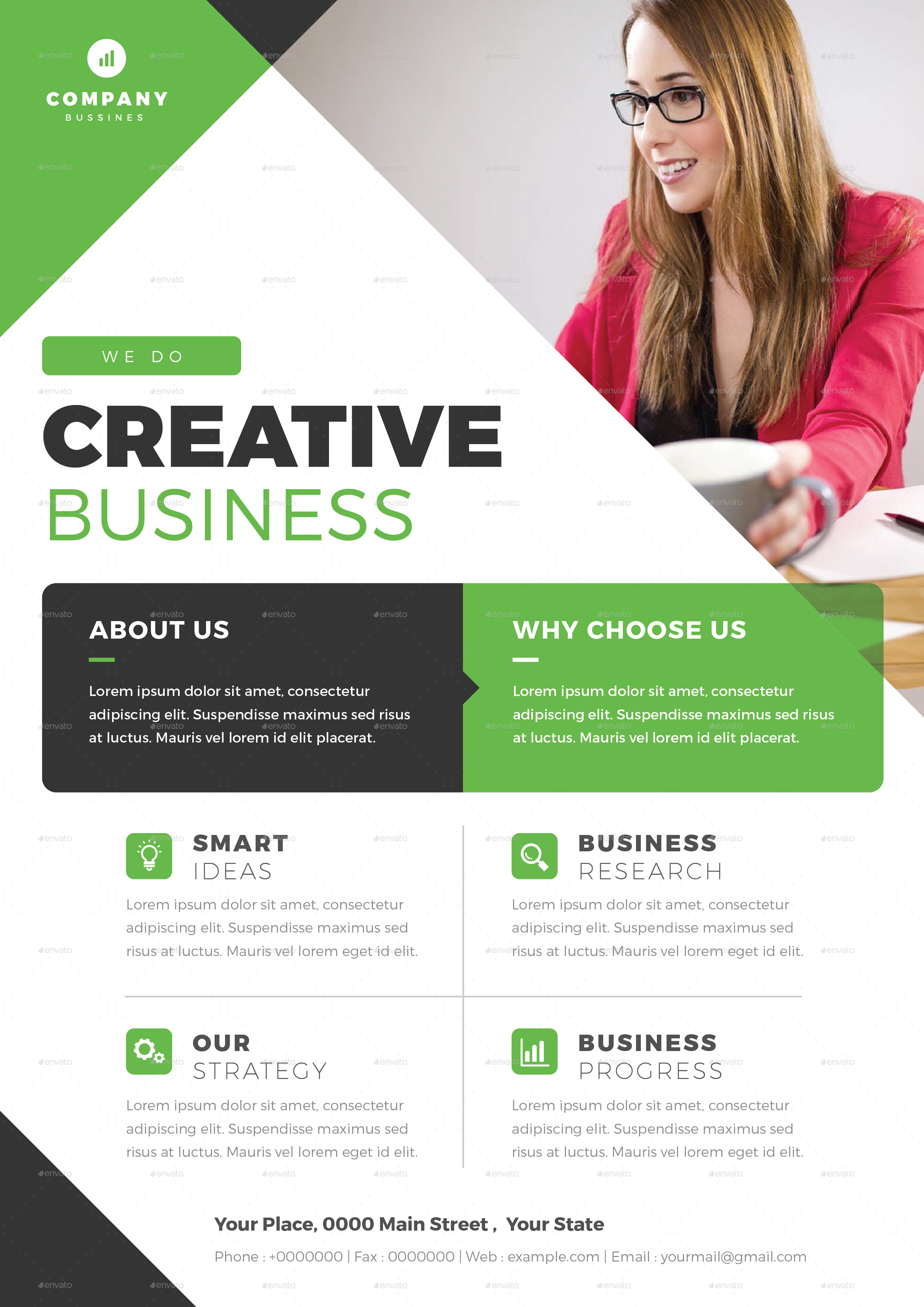Business Flyer Template 02 By Vectorvactory Graphicriver
