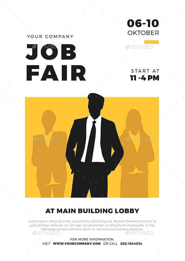 Job Fair Flyer Template By Vectorvactory Graphicriver