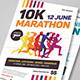 Marathon Event Flyer Template - GraphicRiver Item for Sale
