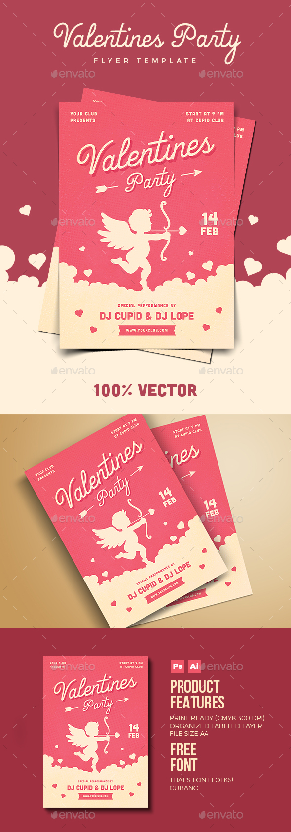 Valentines Day Party Flyer - Holidays Events