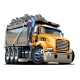 Vector Cartoon Dump Truck - GraphicRiver Item for Sale