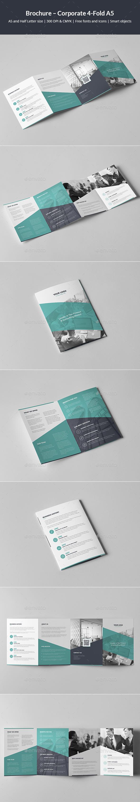 Brochure – Corporate 4-Fold A5 - Corporate Brochures