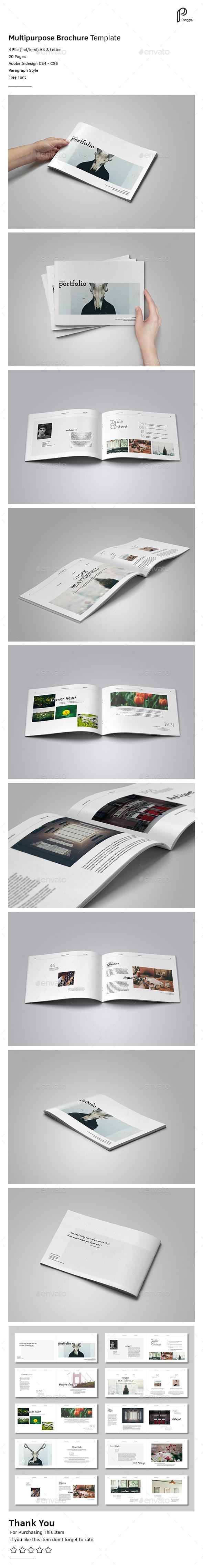Simple Multipurpose Portfolio Vol.2 (Landscape) - Portfolio Brochures
