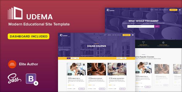 UDEMA - Modern Educational Site Template - Corporate Site Templates