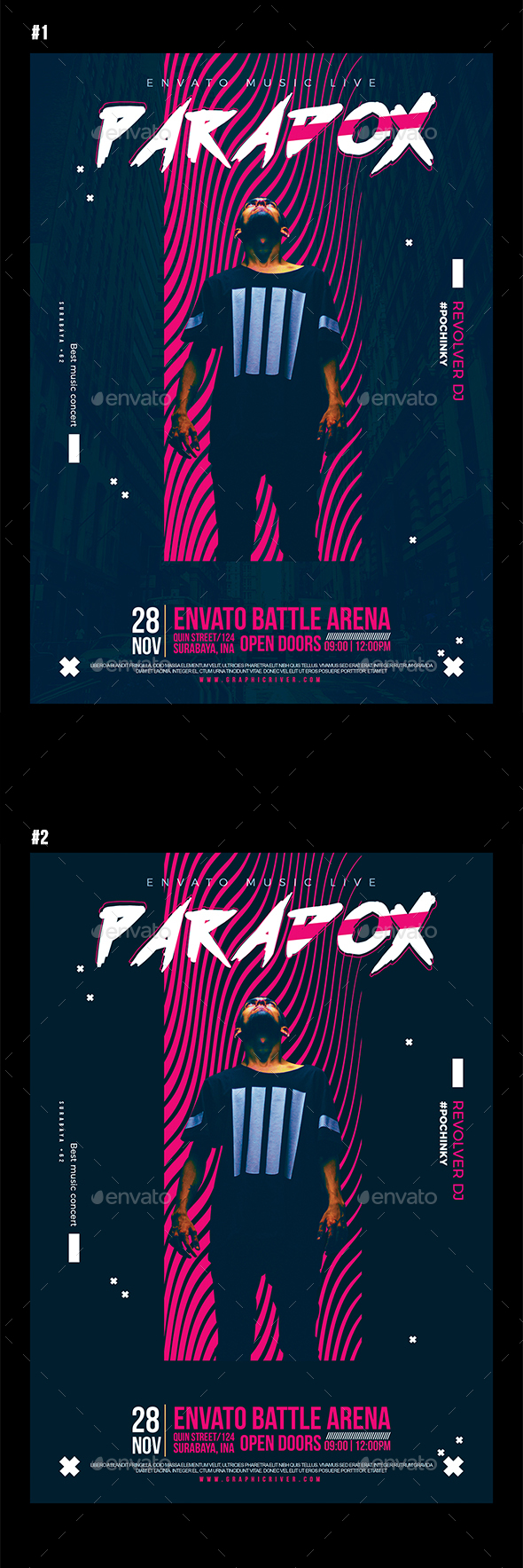 Paradox Music Flyer - Concerts Events
