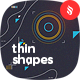 Abstract Thin Geometric Shapes Backgrounds