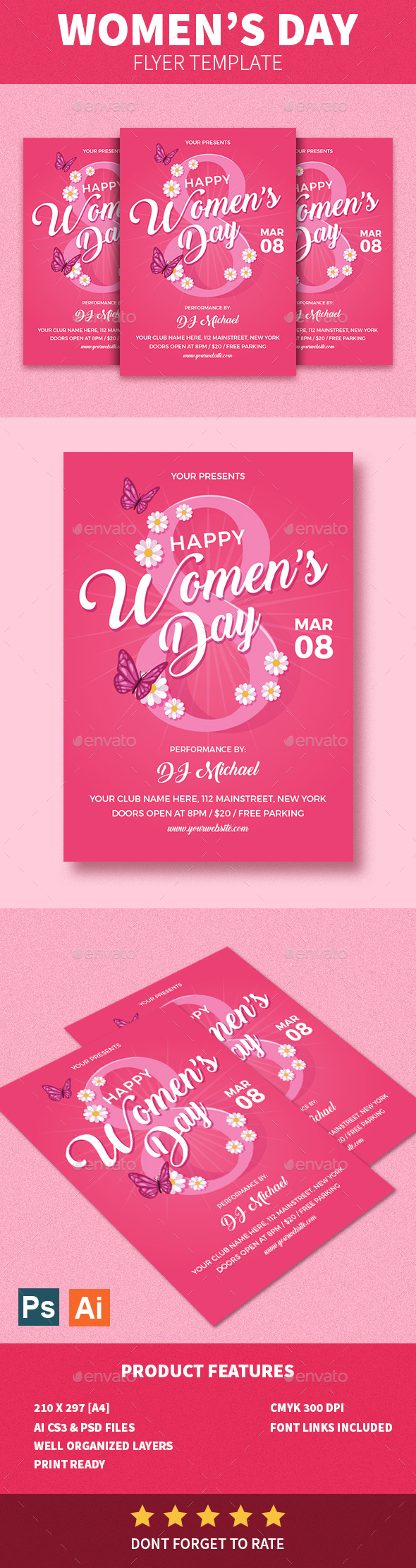 Women's Day Flyer - Events Flyers