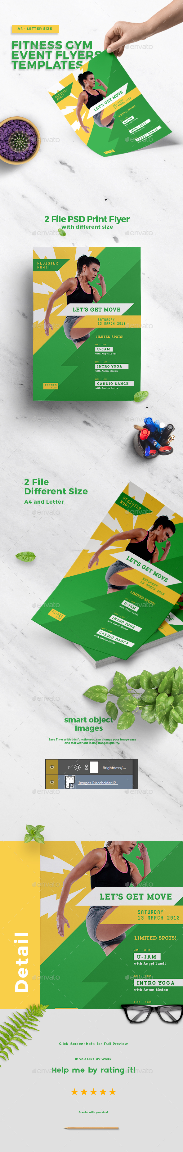 Fitness Gym Event Flyers Templates - Sports Events