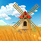 A Windmill In The Barley Fields - VideoHive Item for Sale