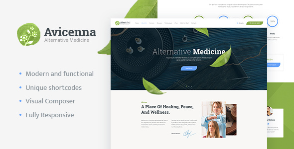 Avicenna | Alternative Medicine WordPress Theme - Health & Beauty Retail