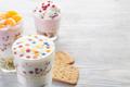 Homemade yogurt meal with fruits, selective focus - PhotoDune Item for Sale