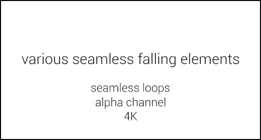 Various seamless falling elements 4K