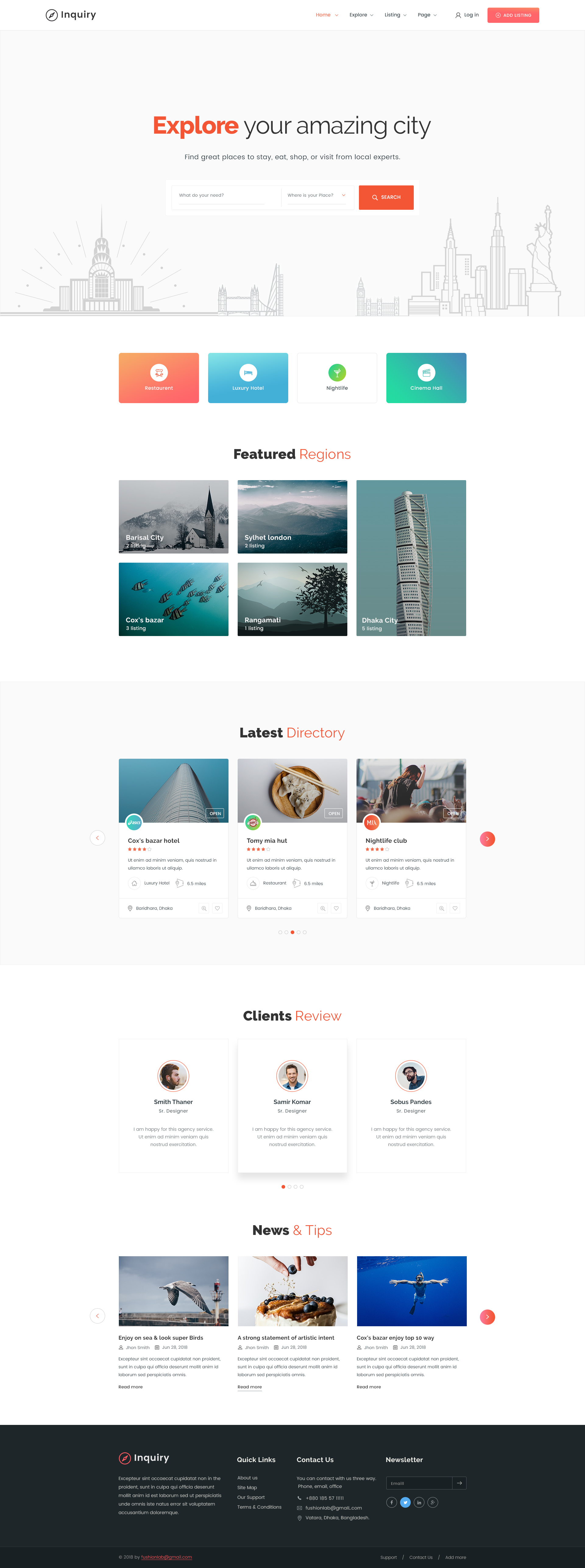 enquiry letter format%0A Inquiry Directory Listing Template By FusionnLab ThemeForest    Home