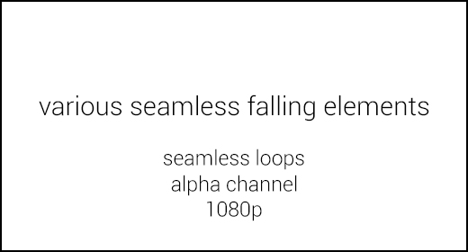 Various seamless falling elements 1080p