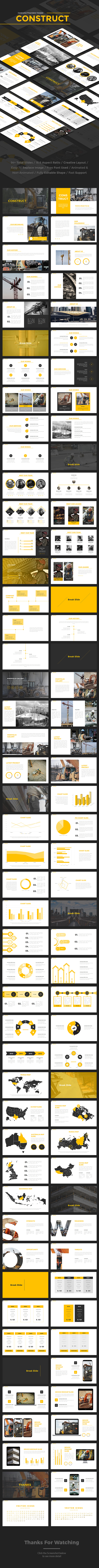 Construct - Construction Powerpoint Template - Business PowerPoint Templates
