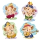 Vector Cartoon Little Baby Ganesha Indian God
