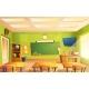 Vector School Classroom Interior