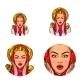 Vector Pop Art Social Network User Avatars