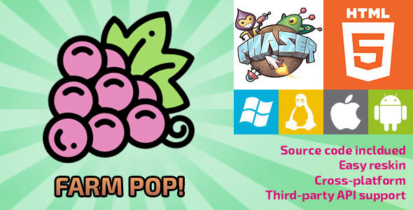 Farm Pop! - HTML5 Game - Phaser - CodeCanyon Item for Sale