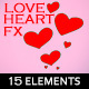 Painted Love Heart 2D Effects (15 Elements) - VideoHive Item for Sale