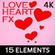 Painted Love Heart 2d Effects (15 Elements) 4K - VideoHive Item for Sale