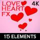 Painted Love Heart 2d Effects (15 Elements) 4K