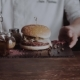 Chief Cook Preparing Fresh Burger in the kitchen.Burger Restaurant Menu Cooking Process. The Cook - VideoHive Item for Sale