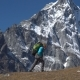 Backpacker Climbs in the Mountains - VideoHive Item for Sale