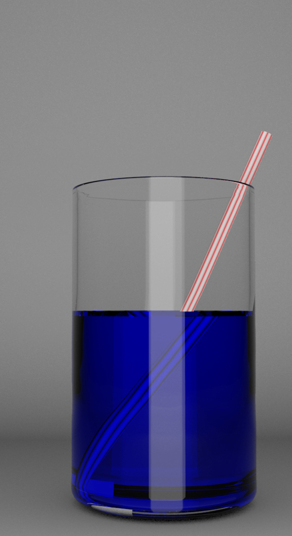 juice in a transparent glass with a stripped straw - 3DOcean Item for Sale