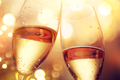 Christmas and New Year celebration with champagne. Two champagne - PhotoDune Item for Sale