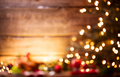 Christmas holiday blurred background. Decorated Christmas tree a - PhotoDune Item for Sale
