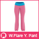 Women's Flare Yoga Pant Mock-up