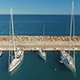 Drone footage of sailing boats in sea port - VideoHive Item for Sale