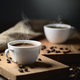 coffee cups and coffee beans - PhotoDune Item for Sale