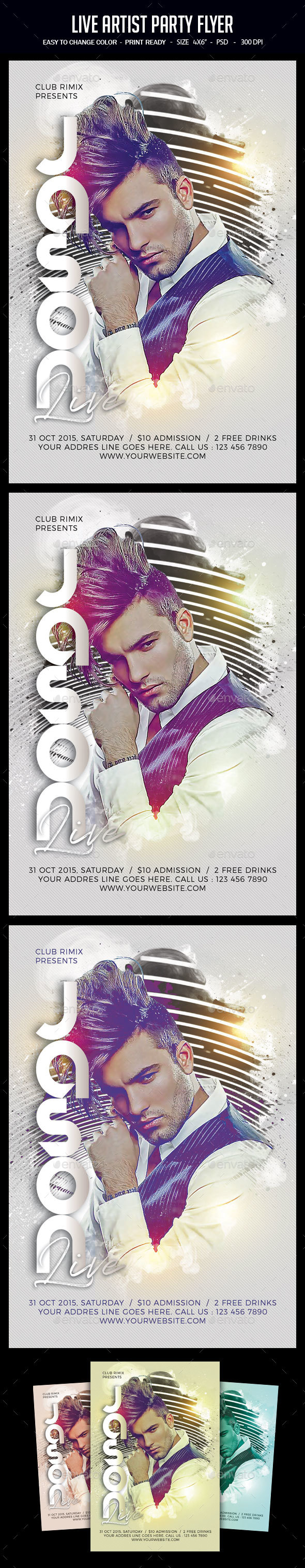 Live Artist Party Flyer - Clubs & Parties Events