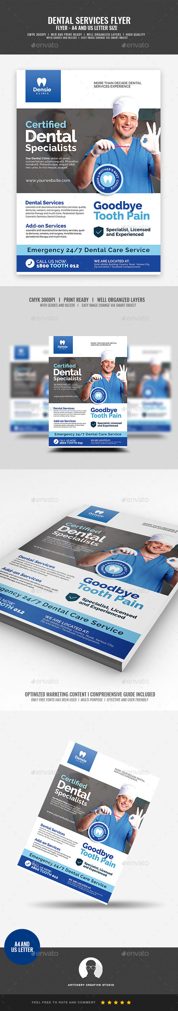 Dental Care Clinic Flyer - Corporate Flyers