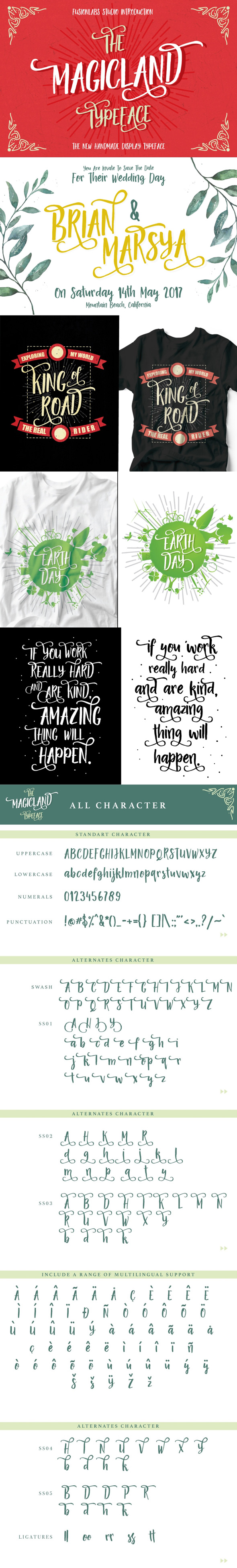 The Magicland Typeface - Handwriting Fonts