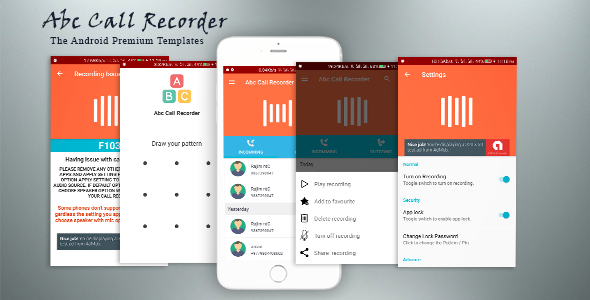 Abc Call Recorder - Beautiful UI, Admob, Firebase Push Notification, Admin Panel - CodeCanyon Item for Sale