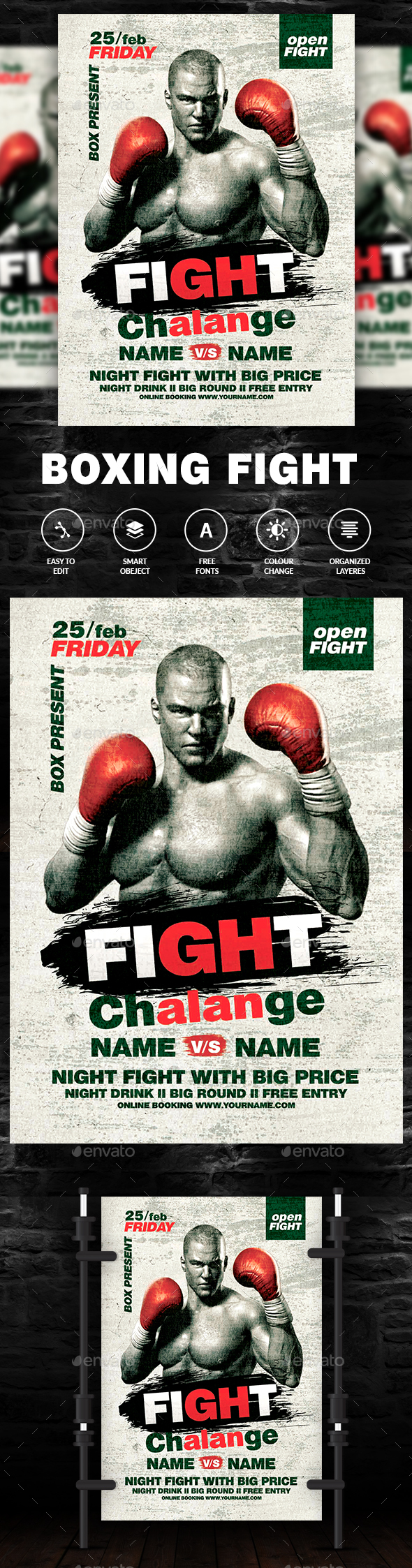 Fight Flyer - Clubs & Parties Events